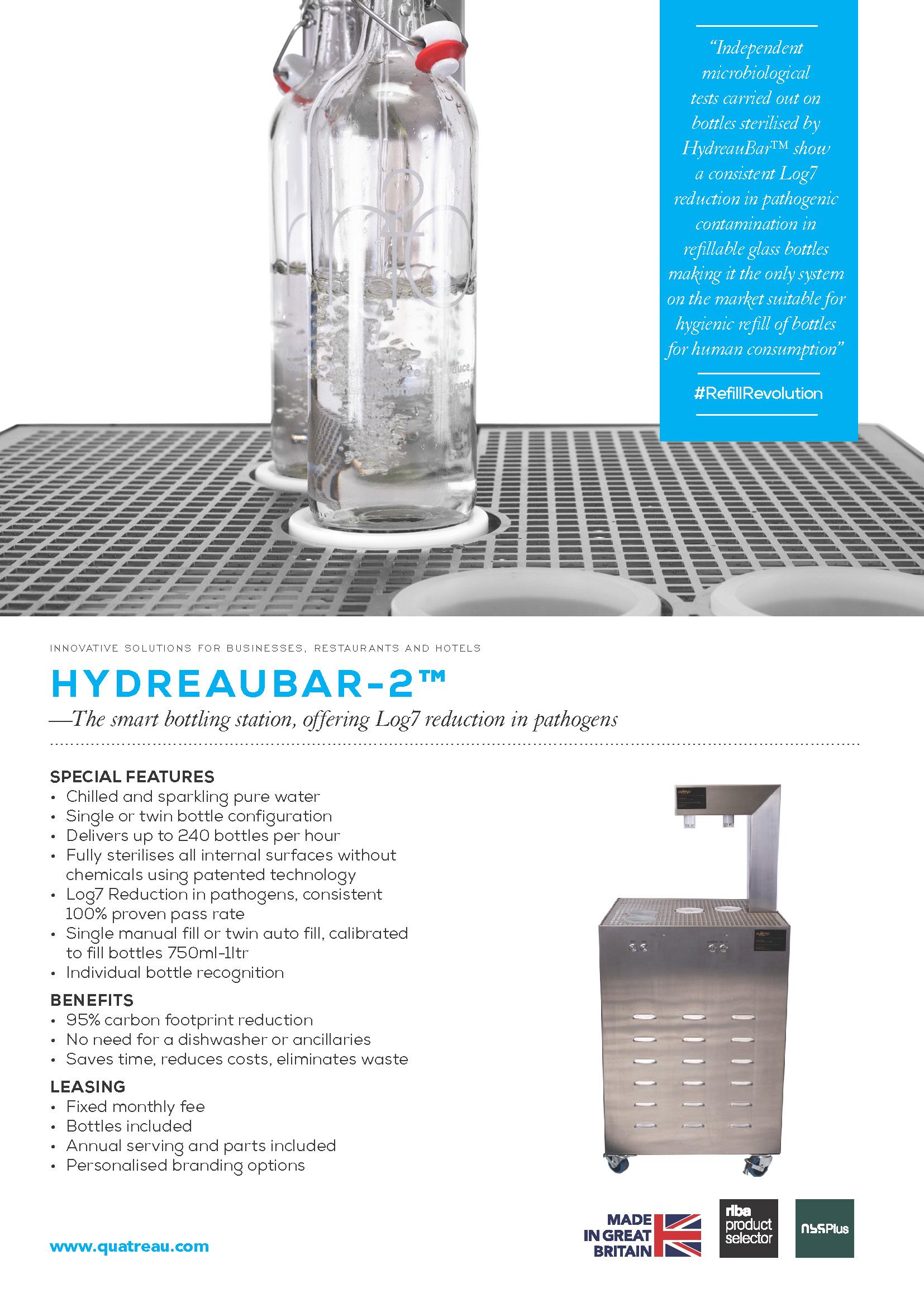 Quatreau-HydreauBar-HB-2-TechnicalSpec-50hz